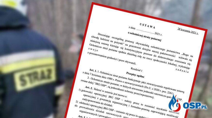 """""""Słabością zaprezentowanej ustawy jest również całkowity brak odniesienia do kluczowego problemu systemu organizacji ratowniczych""""-Ośrodek Analiz INoPiB"""